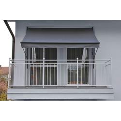 Angerer Freizeitmöbel Klemmmarkise, grau, Ausfall: 150 cm, versch. Breiten grau Klemm-Markisen Markisen Garten Balkon Klemmmarkise
