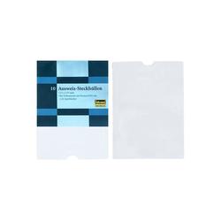 Idena Sleeve Karten & Ausweis Steckhülle - für Kreditkarte, Scheckkarte, Mitgliedskarte u.v.m. - 10 Stück