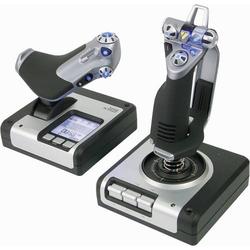Saitek Logitech Gaming X52 Hotas Flight Control System PS28 Flugsimulator-Joystick USB PC Silber, Sc