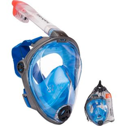 SALVAS Full Face Schnorchel Maske Tauchmaske Taucher Vollmaske Vollgesichtsmaske Größe: S/M