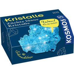 Kosmos Spiel, Kristalle - Blaue Kristalle selbst züchten - mit Schmuckdose