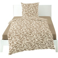 Bierbaum Nature Leaves taupe 135 x 200 cm + 80 x 80 cm