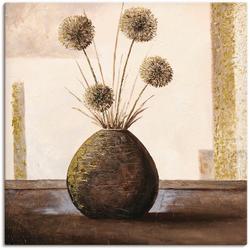 Artland Wandbild Goldene Vasen II, Vasen & Töpfe (1 Stück) 50 cm x 50 cm