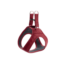Hunter Hunde-Geschirr Hilo, Leder rot S - 43 cm - 48 cm