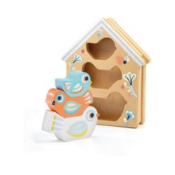 DJECO Steckspielzeug Steckspielzeug BabyBirdi