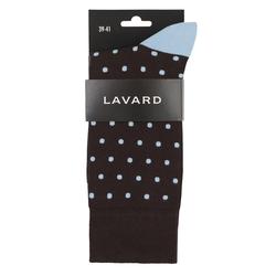 Lavard Braune Socken mit blauen Tupfen 73063  39-41
