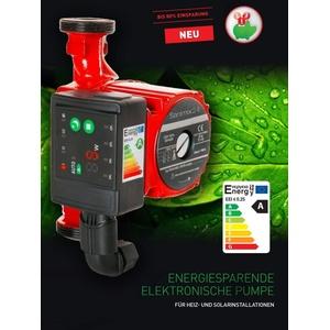 Hochwertige Hocheffizienzpumpe - Umwälzpumpe - LED Heizungspumpe - LED AUTOMATIK ANZEIGE -Daten:RS 25-60 180 elektronisch-Leistungsaufnahme 5-45 W - Energieeffizienklasse A - 80% Ersparnis