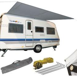 BO-CAMP Sonnensegel für Wohnwagen & Wohnmobil Markise Vordach Keder Bus 3,5x2,4m