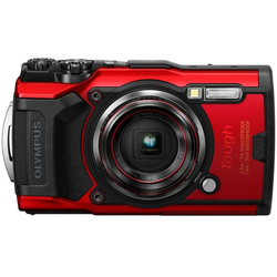 Olympus Tough TG-6 Outdoor-Kamera (12 MP, 4x opt. Zoom, WLAN (Wi-Fi) rot