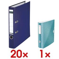 20x Ordner »1015« inkl. Ordner »180° Active WOW 1106« blau, Leitz, 5.2x31.8x28.5 cm
