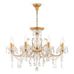 click-licht Kronleuchter Kronleuchter Sevilla in Gold aus Metall 8-flammig, Kronleuchter Ø 76 cm x 96 cm