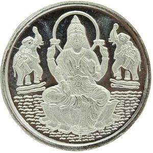 PH ARTISTIC Religiöse 999 feine Silbermünze Indien Göttin Laxmi Shree mit Box Geschenk