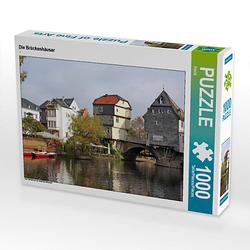 Die Brückenhäuser Lege-Größe 64 x 48 cm Foto-Puzzle Bild von Flori0 Puzzle