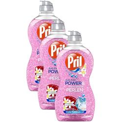 Pril Anti-Fett Power & mineralische Perlen Spülmittel 3x450ml Geschirrspülmittel