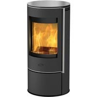 Fireplace Rondale Glas schwarz