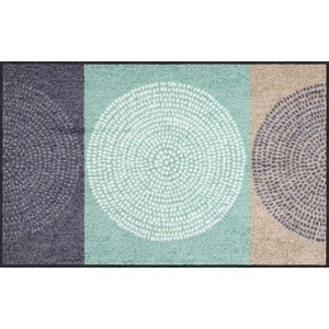 Salonloewe Fußmatte grau/mint Größe 75x120 cm