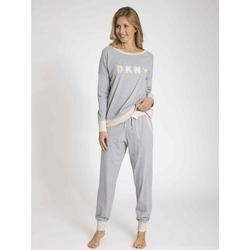 DKNY Pyjama Bündchenpyjama grau XL = 42/44