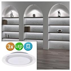 Paulmann LED Einbaustrahler, 3er Set LED Möbel Einbau Strahler Spot Leuchten Lampe Chrom matt Paulmann 983.52