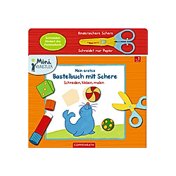 Mein erstes Bastelbuch mit Schere  m. kindersicherer Papierschere - Buch