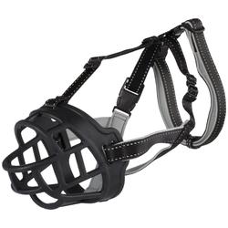 TRIXIE Maulkorb Muzzle Flex XL, Nylon, Silikon, Neopren, 39 cm Korbumfang