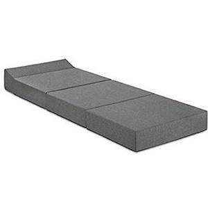 Traumnacht Komfort Gästematratze mit bequemen Kopfteil, 200 x 70 x 15 cm, hellgrau