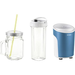 Trisa Power Smoothie Smoothie-Maker 450W Blau, Weiß
