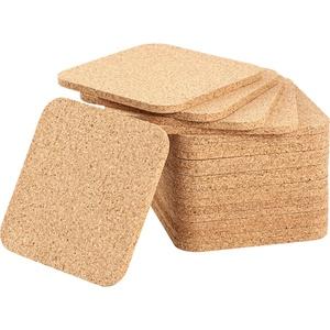 20 Stücke 5 mm Dicken Holz Kork Untersetzer Saugfähig Quadratischen Kork Untersetzer Matten 4 x 4 Zoll