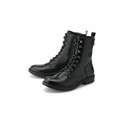 Schnür-Stiefeletten Schnür-Boots COX schwarz
