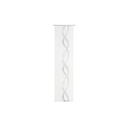 Gözze Schiebevorhang Pascal in weiß-schwarz, 60 x 245 cm