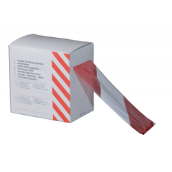 Absperrband 72 mm x 500 m in Rot/Weiß