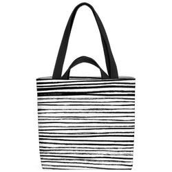 VOID Henkeltasche (1-tlg), Schwarz Weiss Streifen Zebra Streifen gestreift Zebrastreifen Linien