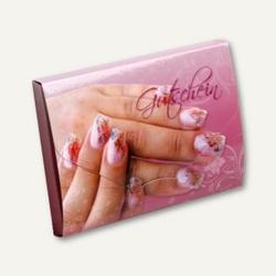 officio Gutscheinbox mit Karte NAGELDESIGN, 105 x 76 mm, 10 Stück