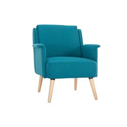 Design-Sessel aus blauem Stoff AEOLA