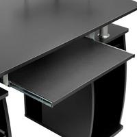 Tectake Computertisch 115x55x87cm schwarz
