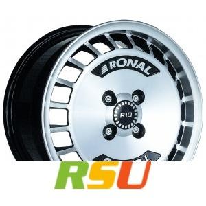 Ronal R10 Turbo schwarz-frontkopiert 7x15 ET37 - LK4/98 ML68 Alufelge schwarz