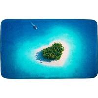 Sanilo Badematte Dream Island Höhe 15 mm, schnell trocknend, Memory Schaum rechteckig - 70 cm x 110 cm x 15 mm