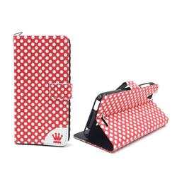 Handyhülle Tasche für Handy Acer Liquid Z630 Polka Dot Rot