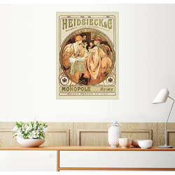 Posterlounge Wandbild, Heidsieck Champagner 60 cm x 80 cm
