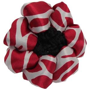 JUSTFOX - Duttnetz Haarnetz Haar Frisurenhilfe Stoff neues Design rot