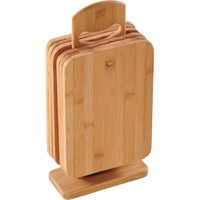 KESPER Brettchenständer mit 6 Brettchen Bambus