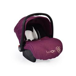 Moni Babyschale Babyschale, Kindersitz Luxor, Gruppe 0+, 2.9 kg, (0 - 13 kg), Sitzpolster, Fußabdeckung lila