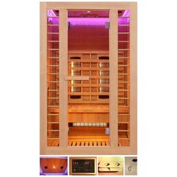 HOME DELUXE Infrarotkabine Redsun M Deluxe, BxTxH: 120 x 105 x 190 cm, 45 mm