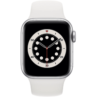 Apple Watch Series 6 GPS 40 mm Aluminiumgehäuse silber, Sportarmband weiß