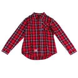 Hemd METAL MULISHA - Bank L/S Flannel Re (RED)