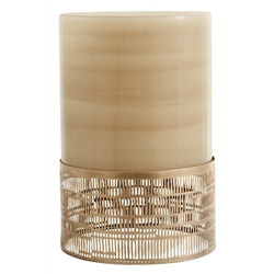 Nordal Kerzenhalter Glas & Metall Braun 30 cm