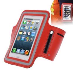 Sportarmband Tasche für Handy iPhone 5 / 5s / 5c rot