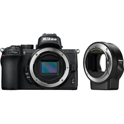 Nikon Z50 Body + FTZ Objektivadapter Systemkamera (20,9 MP, Bluetooth, WLAN (Wi-Fi)