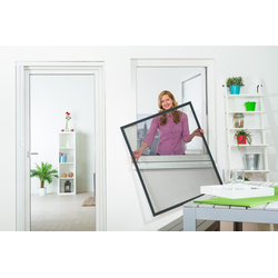 empasa Insektenschutz-Fenster FLEX, für flächenversetzte Fenster grau 100 cm x 120 cm