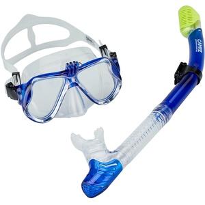 CAMPZ Tauch-Set Maske + Schnorchel blau/transparent 2021 Schnorchel