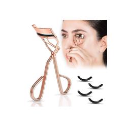 kueatily Wimpernzange Wimpernzange (Roségold) mit 4 zusätzlichen Ersatzgummipads, semipermanenter Wimpernwelle, geeignet für den Salon, für perfekt gebogene Wimpern